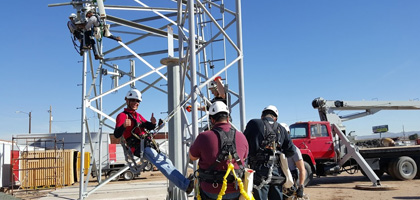 Tower safety and rescue cell tower certifications